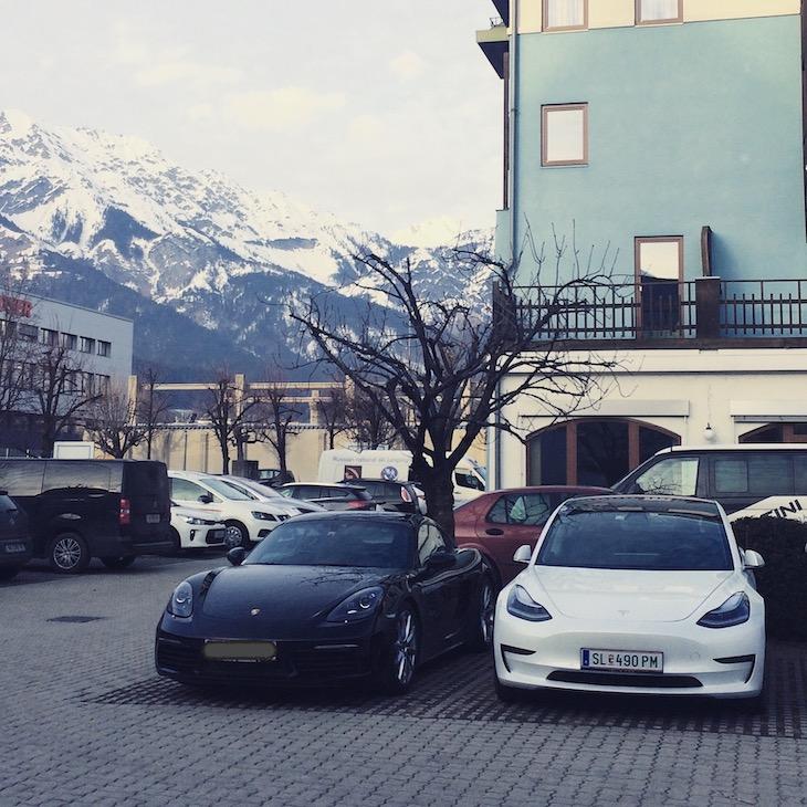Das Tesla Model 3 in Innsbruck